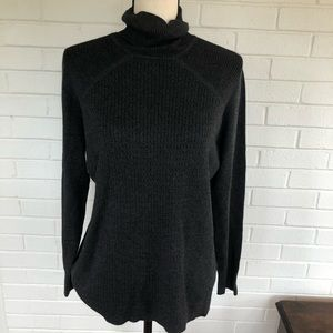 Tribal grey cable turtleneck sweater XL
